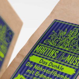 Martins Bio Müsli Das Dunkle mit Kakao-Geschmack Etikett