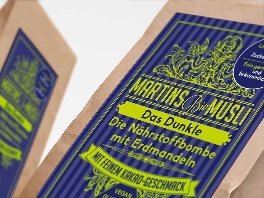 Martins Schoko Bio Muesli Porridge mit Erdmandeln