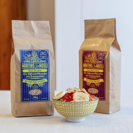 gesundes Frühstück Martins Bio Müsli Porridge