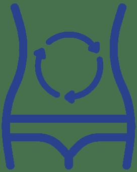Piktogramm unterstützend für Verdauung