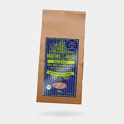 Verpackung Bio Schoko Müsli | Das Dunkle